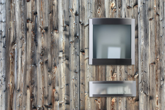 Glasnost.Glass.Black-Stripes Mailbox by keilbach