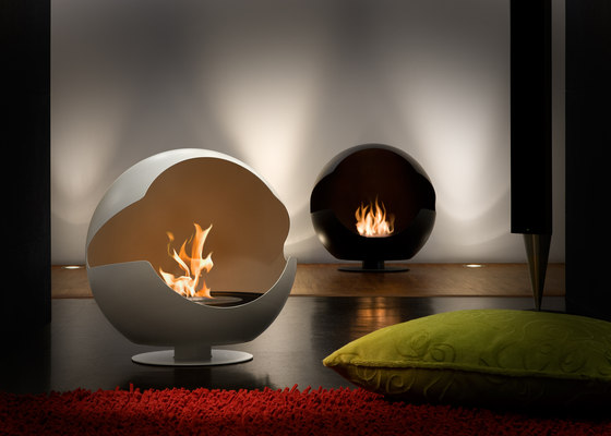 Globe stone white by Vauni Fire