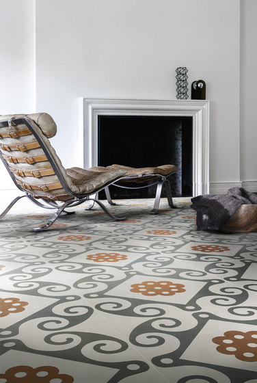 Frame Geometric Floor Tile by Refin