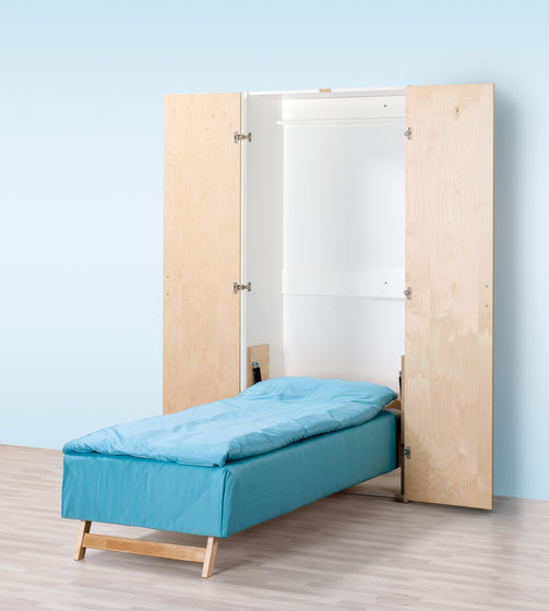 Foldable and storable bed AVK500 de Woodi