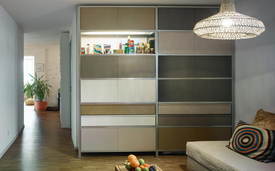 mf-system | Room divider with sliding doors de mf-system