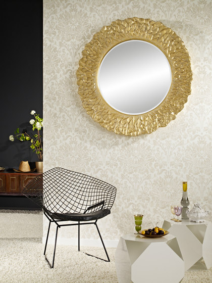 Flora gold by Deknudt Mirrors