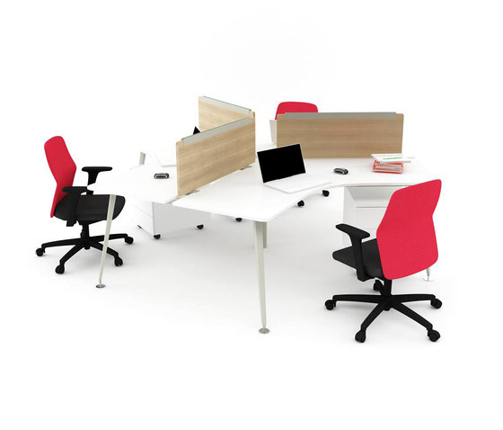 Lunar Triple Working Desk de Nurus