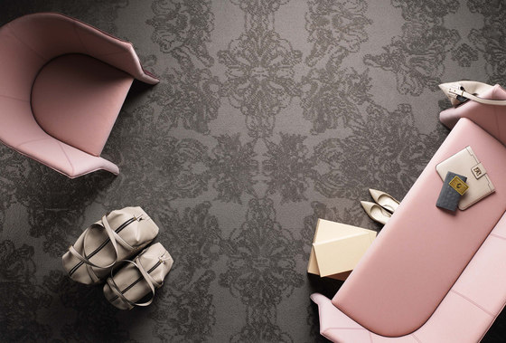 Classic Damask Shimmering Heather 6001 by Kasthall