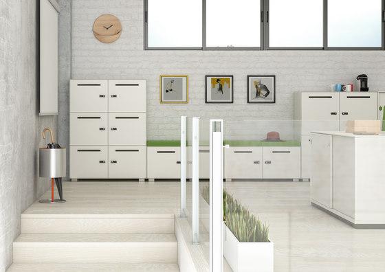 Primo 1000 Lockers | 2 door metal locker with slots by Dieffebi
