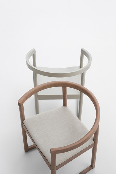 Nordica chair with armrests by Billiani
