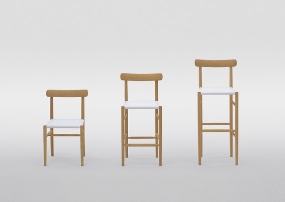 Lightwood Armless Chair by MARUNI