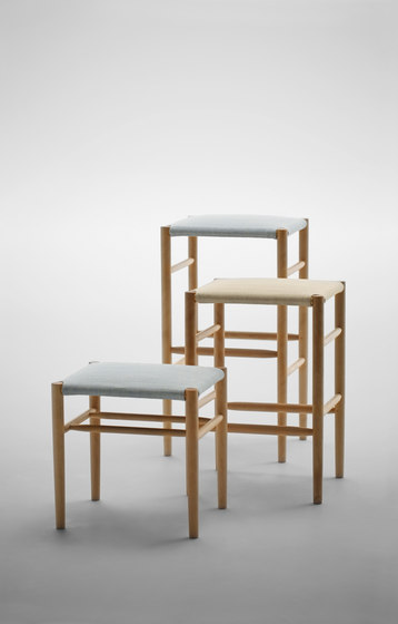 Lightwood Stool Low (Mesh Seat) by MARUNI