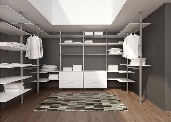 Epomeo di aico design mensole in alluminio librerie - Scaffali per cabine armadio ...