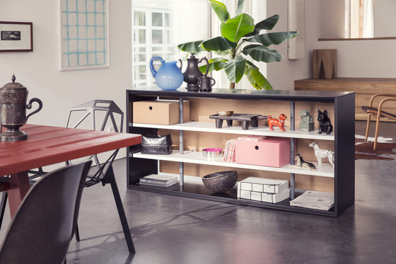 Frame shelving system by Richard Lampert