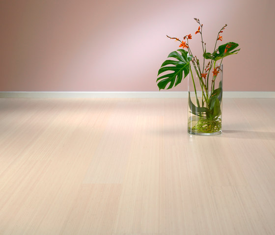 Bamboo Noble sidepressed white by MOSO bamboo products