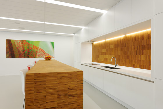 Solid panel plainpressed natural by MOSO bamboo products