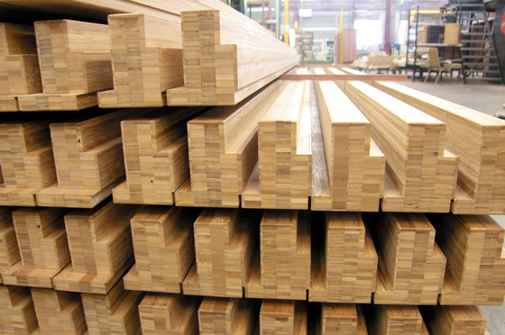 Solid joist plainpressed caramel by MOSO bamboo products