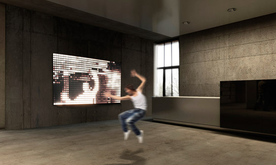 LivingShapes interactive wall by Philips Lumiblade - OLED