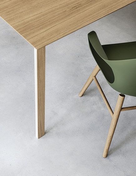 Thin-K aluminium table by Kristalia