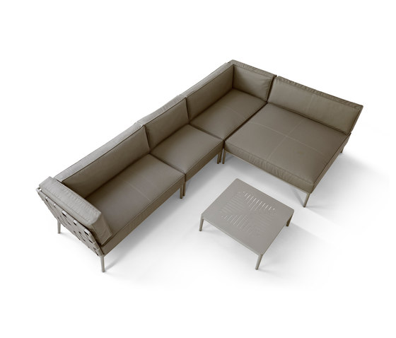 Conic 2-seater sofa left module by Cane-line