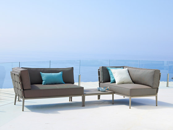 Conic 2-seater sofa right module by Cane-line