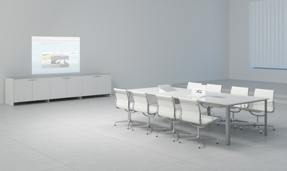 C6 Conference table system by Holzmedia