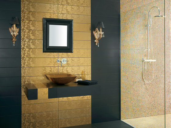 Washbasin Future Gold by Dune Cerámica