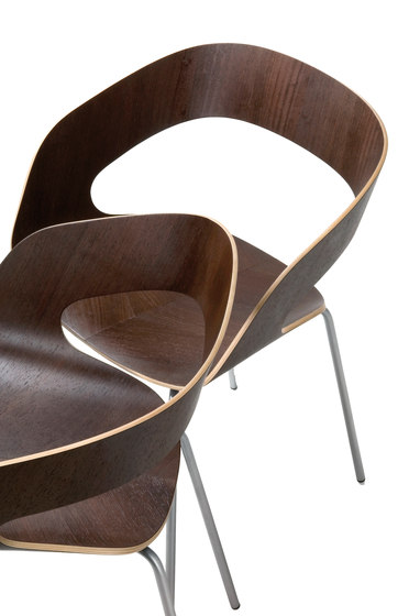 Chat 4-leg chair by Plycollection