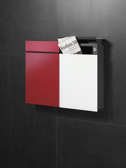 Flat Wide letterbox | stainless steel by Serafini