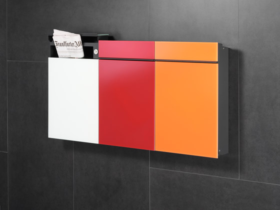 Newspaper slot | Flat Wide | stainless steel by Serafini