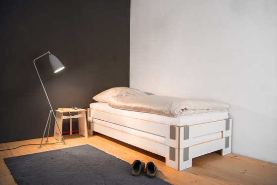 Tagedieb stacking bed by Nils Holger Moormann
