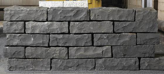 Basalt schwarz Pflaster, gespalten by Metten