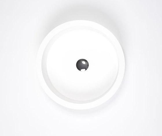 blu•stone round countertop basin by Blu Bathworks