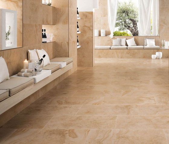 Sunrock Travertino Almond by Atlas Concorde