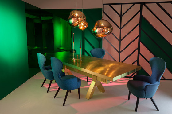 Mass Dining Table Brass von Tom Dixon