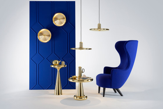 Spun Table Tall Brass by Tom Dixon