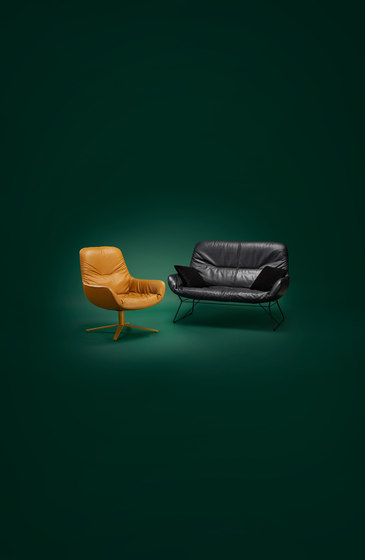 Leya Armchair High by Freifrau Sitzmöbelmanufaktur