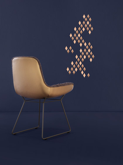 Leya |  Wingback Chair with wire frame by Freifrau Sitzmöbelmanufaktur