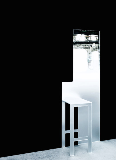 Mirror Stool by Glas Italia