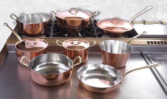 Pot set officine gullo rondeau pan saute pan - Cazuelas de cobre ...