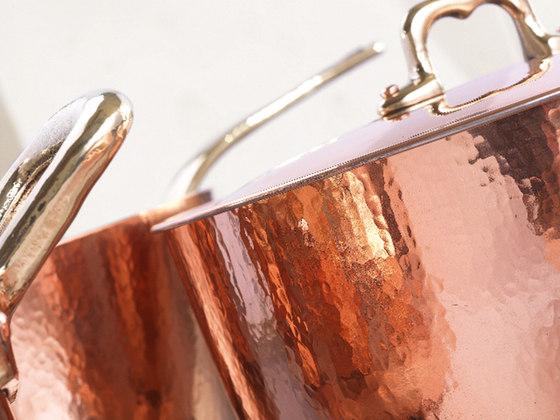 Batterie de cuisine en cuivre de officine gullo po le en - Batterie de cuisine en cuivre ...