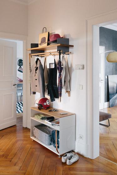 Atelier coat-rack |shelving | 1000 mm by Richard Lampert