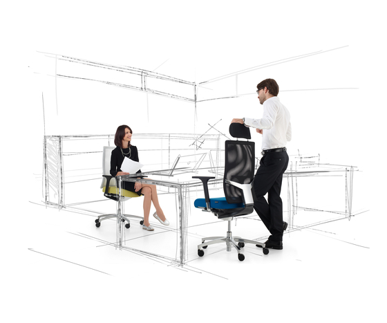Bionic automatic Swivel chair by Dauphin