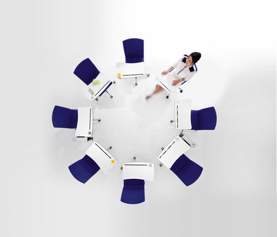 JoinMe Four-legged chair by Dauphin