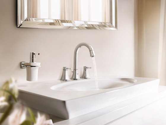 Grandera Holder with ceramic soap dispenser by GROHE