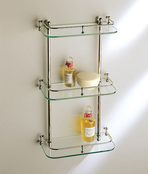 Wall shelf | white glass by Aquadomo