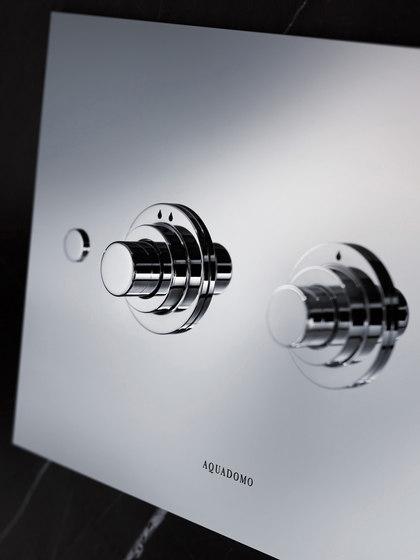 Diamond flush plate chrome by Aquadomo