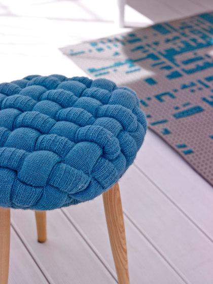 Knitted Stool Blue 2 by GAN