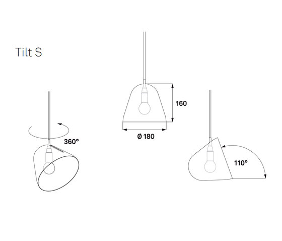 Tilt S Pendant Lamp by Nyta