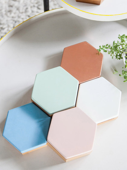 Hex Box Tall Mirror by Evie Group