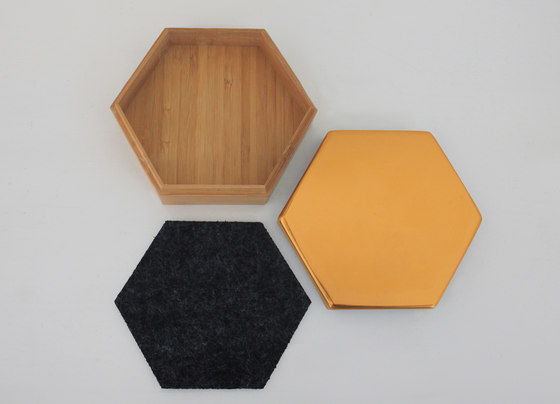 Hex Box Medium Mirror by Evie Group