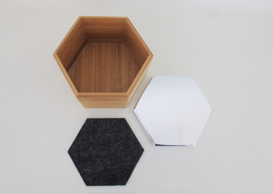 Hex Box Medium Mirror de Evie Group