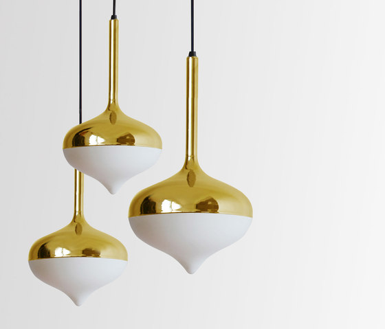 Spun Small Pendant Lamp Gold by Evie Group