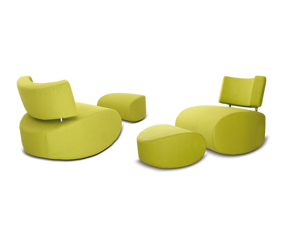 Apollo chair with pouf di Softline A/S